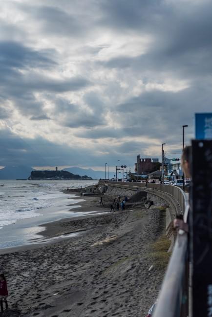Inamuragasaki beach in Kamakura
