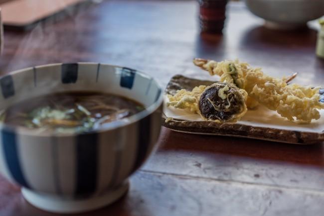 Soba Restaurant in Kamakura: Rai Tei soba noodles and tempura