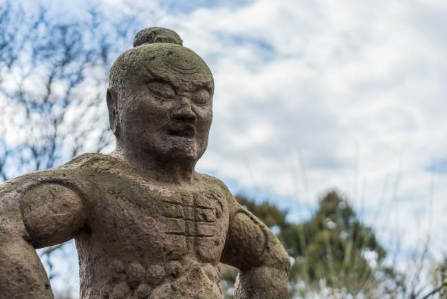 statue at Soba Restaurant in Kamakura: Rai Tei