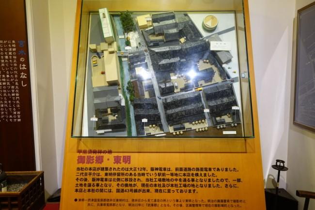 Display at Kobe sake pickles museum