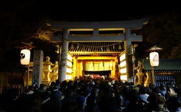 Touka-Ebisu is an annual festival that celebrates the New Year and Ebisu god at Nishinomiya Shrine ,kobe