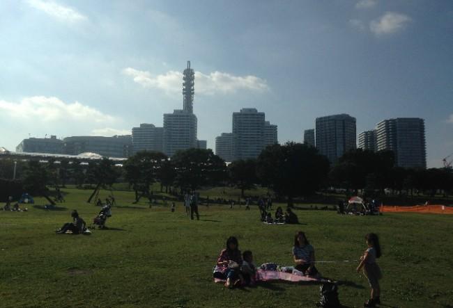 Yokohama Yamashita Park nearby Yokohama port