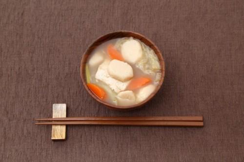Kenchin jiru (miso soup)