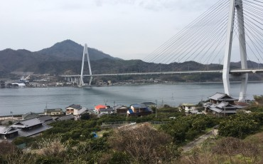 Bicycle, Cycling, Bridge, Temple, Garden, Marble,Shimanami Kaido