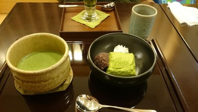 matcha tea at Omizutori festival held in Nigatsu-dou temple in Nara