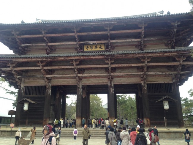 Large wooden building in Todaiji