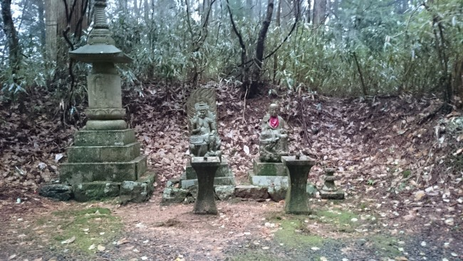 Fierce Fudo Myoo statues protecting Mount Koya