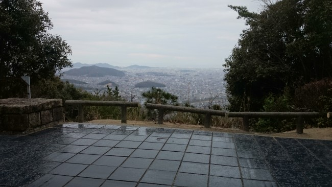 View after hiking Himeji shosasan trail, one riddled with many a temple