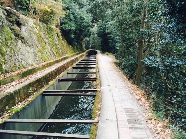Sights walking the Kyoto Philosopher's Path: Aqueduct behind Nanzen-ji temple