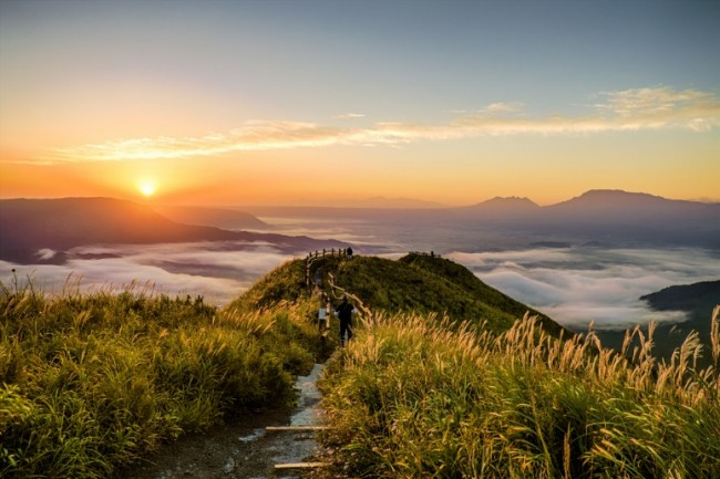 Mount Aso in Kumamoto is a power spot of life-energy from Nature