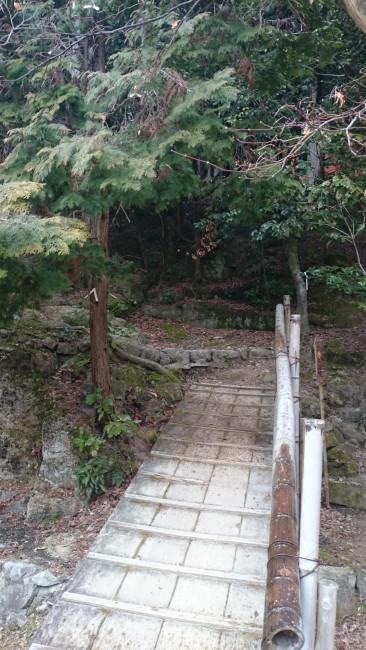 Hiking out from Maniden temple, Himeji shoshasan hiking trail