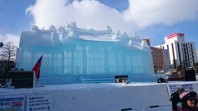 Large snow sculpture of the Sapporo Snow Festival