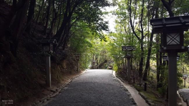 Path of medicine near Omiwa shrine in Nara