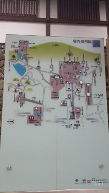Map of Omiwa shrine in Nara