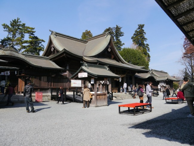 within the Nature and caldera lies Aso shrine with a history of over 2500 year in Kumamoto