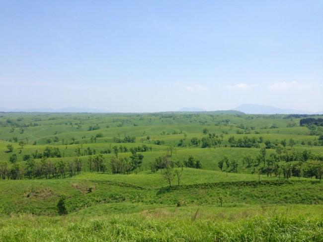 wide view of the surrunding Nature in Aso Kumamoto