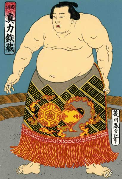 a depiction of a Sumo wrestler, Sumo is a famous sport in Japan,