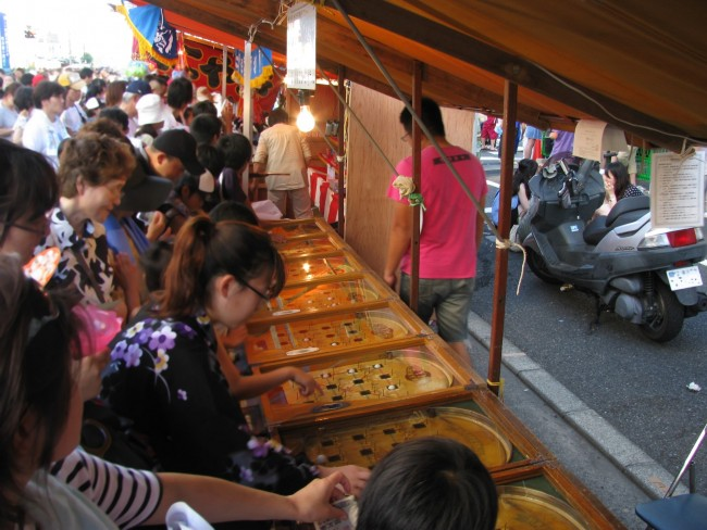 for children, there are also games at a festival in Japan