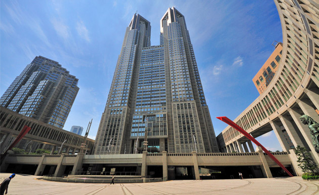 Quite gigantic tower called tokyo metropolitan government is situated in shinjuku