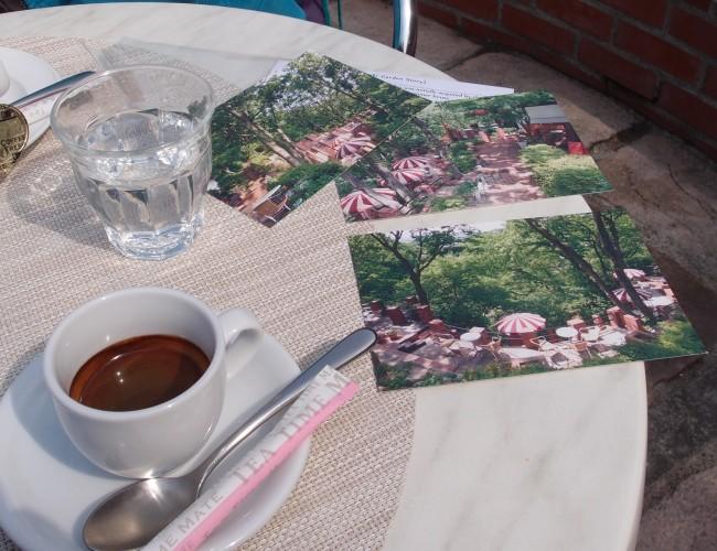 Summer cafe Itsuki Garden Terrace alongside espresso, cafe Itsuki Garden terrace off Daibutsu hiking course, Kamakura