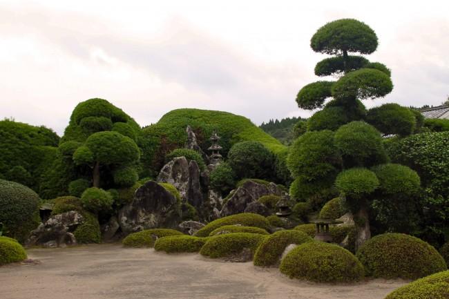 Hirayama Ryoichi Garden in the samurai heritage village of Chiran.
