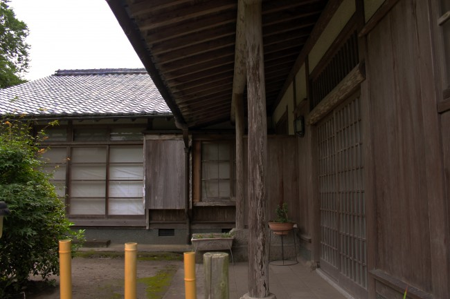 Courtyard of a house with samurai heritage in Chiran.
