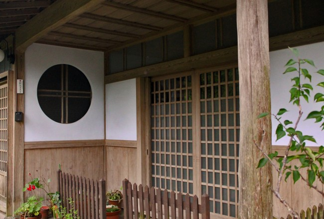 Detail of a house in Chiran with samurai heritage.