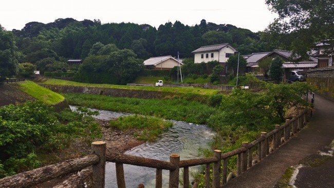 River at the heritage samurai village of Chiran.