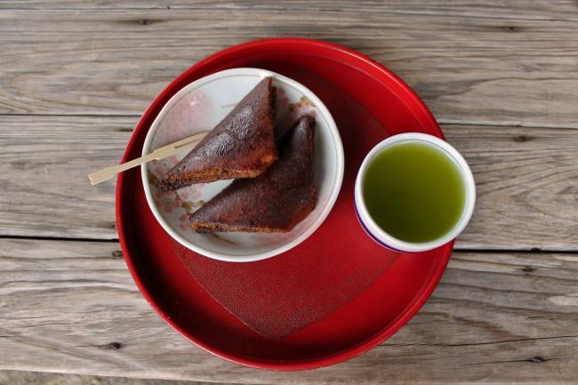 Kagoshima green tea and brown sugar confectionery in the samurai heritage village of Chiran.