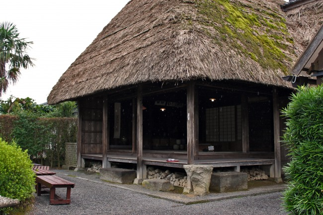 Tea house in the samurai heritage village of Chiran.