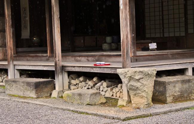Tea house veranda in the samurai heritage village of Chiran.