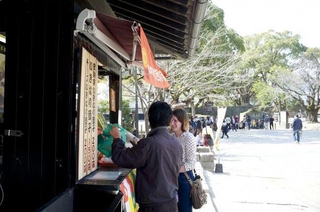 to have the most authentic traditional Ikinari dango experience in Kumamoto, visit Suizenji Park