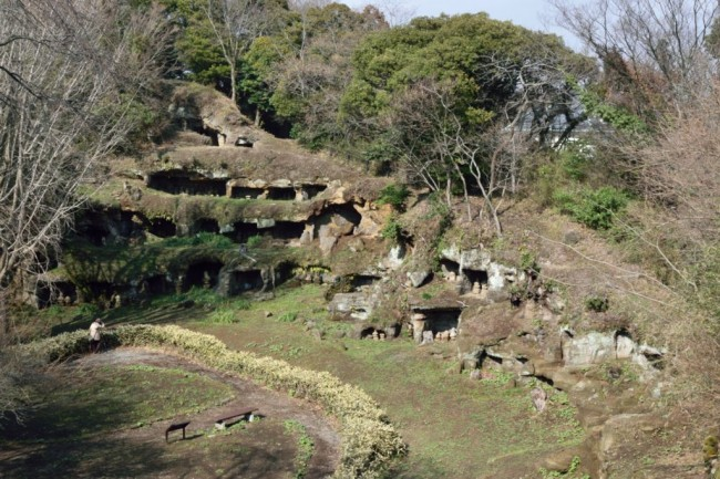 Kamakura is home to samurai graves in many small caves