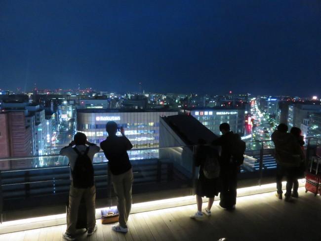 After shopping Hakata Station, enjoy a Fukuoka night view