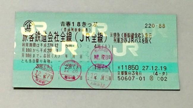 JR discount train ticket