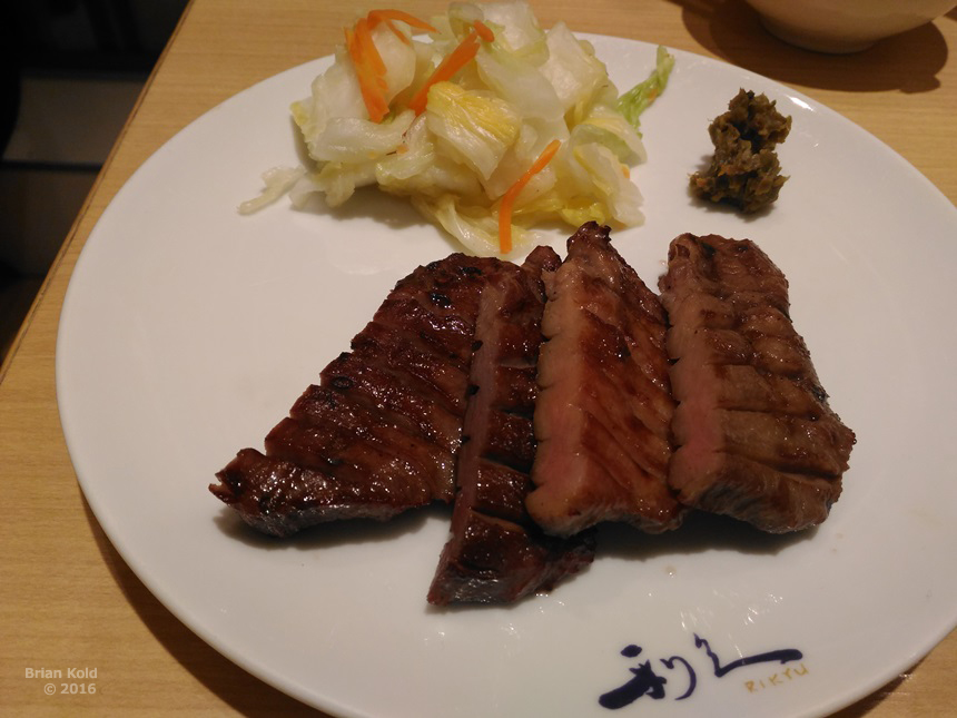 Gyutan (beef tongue), Sendai's local speciality