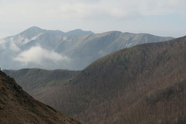 Bare trees hiking up Mount Nasu, five volcano peaks within Nikko