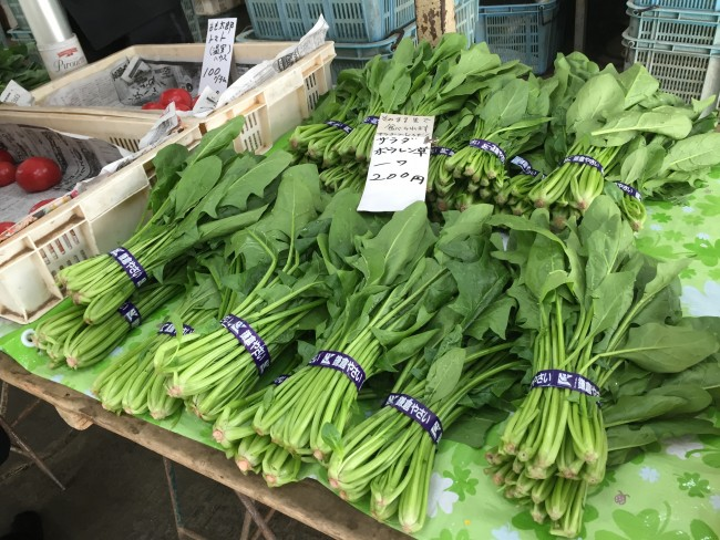 Some green vegetables: Kamakura Farmers Market