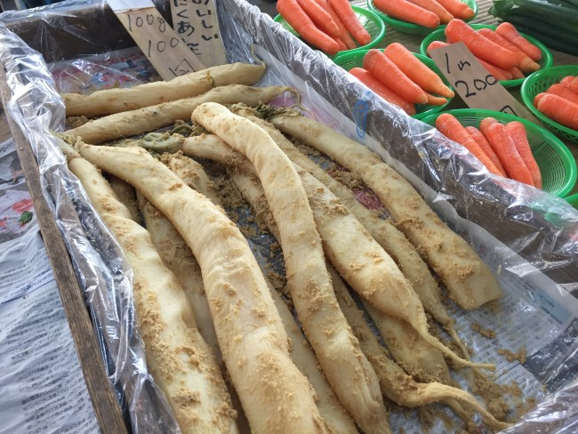 Root vegetables at Kamakura Farmers Market