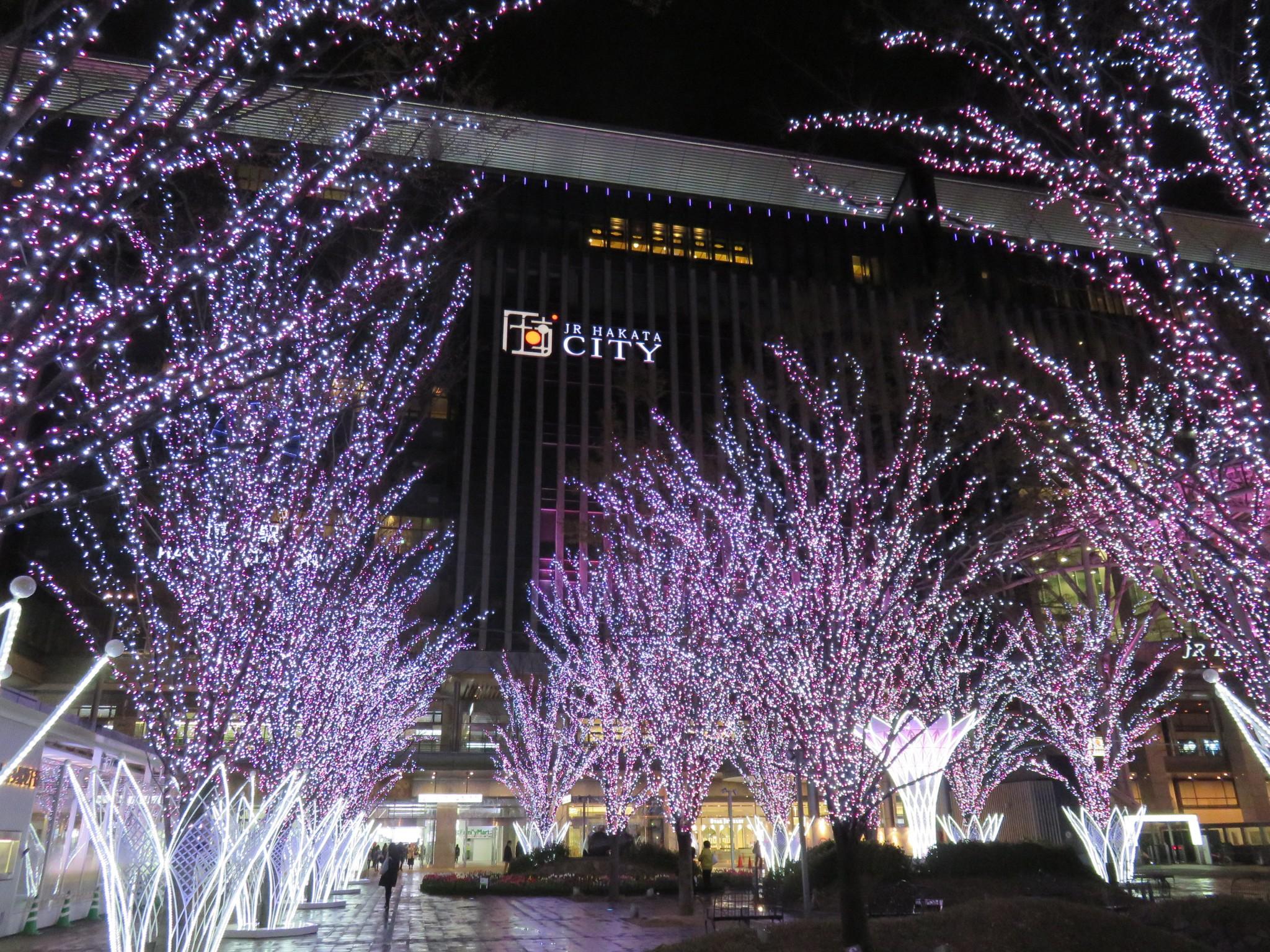 Shopping at exciting Hakata Station!!