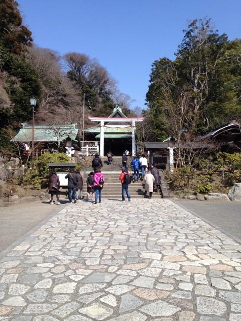 steps to Kamakura-gu shrine