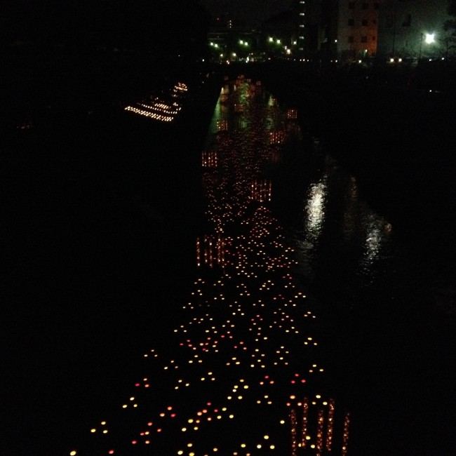 Mizu Akari Festival in Kumamoto lights the rivers with candles and lanterns