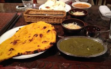 Krishna curry dish in Sapporo, Hokkaido.