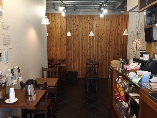 Inside Maruyama Coffee Cafe in Kamakura