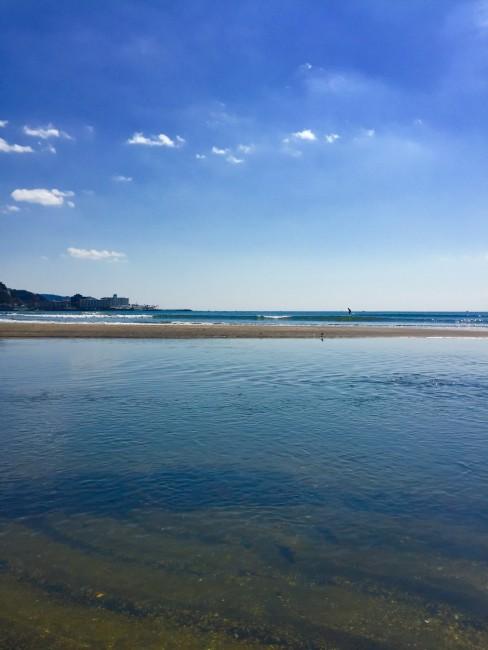clear waters Yuigahama Beach