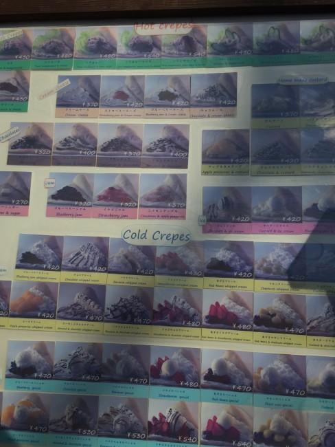 Many a crepe, Marion crepes cafe menu, Hase street, Kamakura