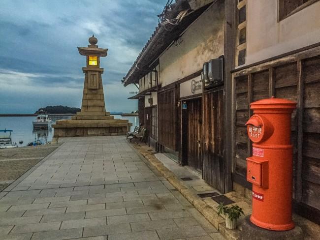 Where land meets sea, Tomonoura lighthouse shines out