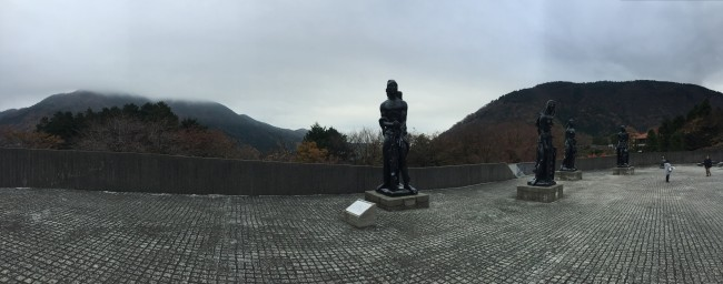 statues at Hakone Museum in Kanagawa