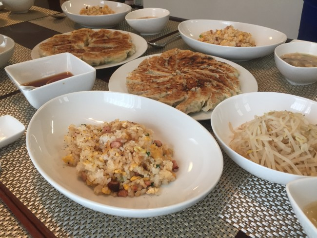 The combination of fried rice and gyoza is makes your meal much more tasty than eating only gyoza