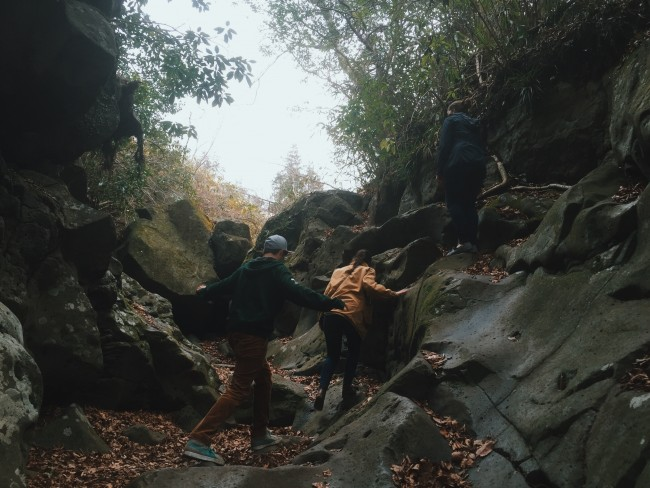rocky trail in Shiraito Falls in Shizuoka offers an abundance of outdoor nature views and experiences in Japan